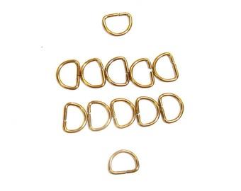D Rings pack of 100 20mm Gilt