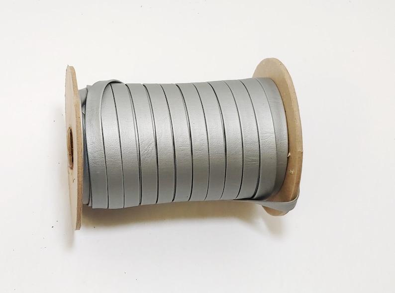 34 or 1 Double Folded Vegan Leather Strap in Silver Mettalik 12 38 5 YDS 0375BVMET 0500BVMET 0750BVMET 1000BVMET vinyl