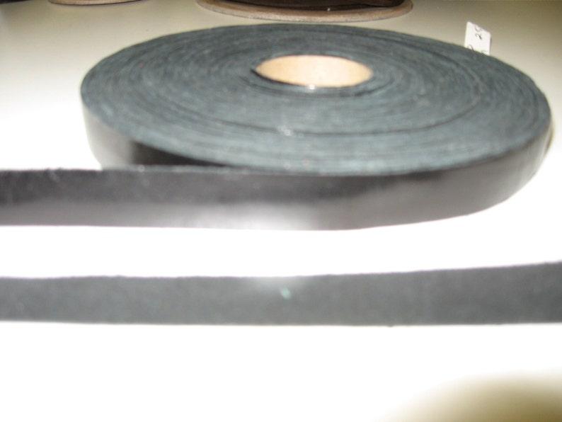 Genuine Black Cowhide Stripping 58 5 yds SM0625ND