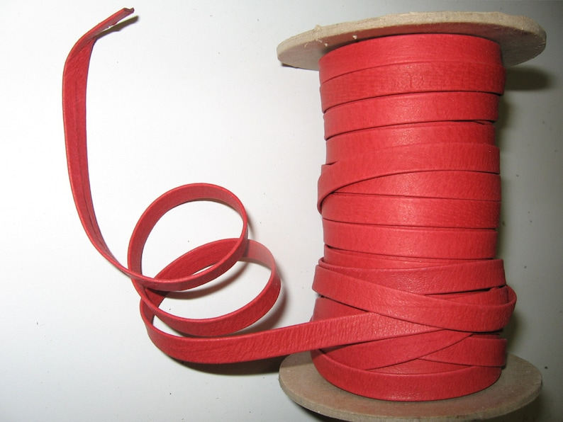SM3252XP 4 yds Genuine Pig Leather Stripping 38 Double-Folded and Reinforced in Red