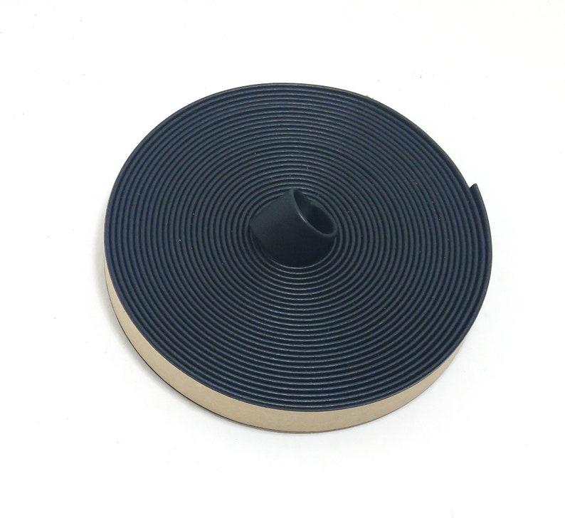 0375BVDAY vinyl 34 Double Folded Vegan Leather Strap in Black Daytona THICKNESS 0.080 5 YDS