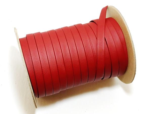 1 Bordo Vegan; Lamb Touch softness 1000BULT Polyurethane Faux Leather Strip Dark Red 3 YDS