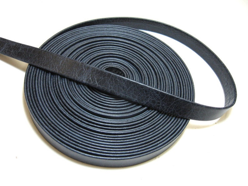 2 YDS 0750RDB 34 Double-folded /& Reinforced Cowhide Leather Strap in Vermont Navy