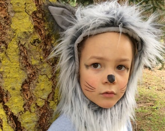 Grey Wolf Halloween Kids Costume for Boys or Girls Toddler Costume Childrens Costume hood and suit Wolf Costume  sc 1 st  Etsy & Kids costumes   Etsy