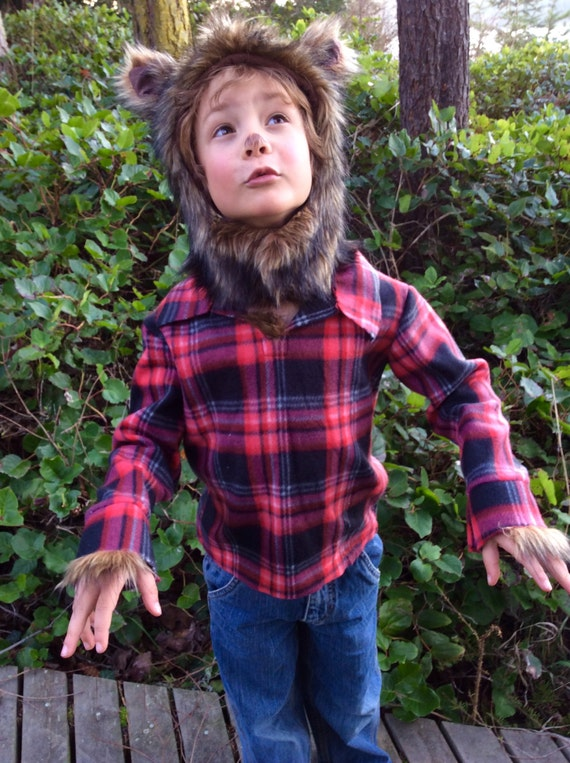 Werewolf Halloween Costume Kids Costume Hood Boys Costume