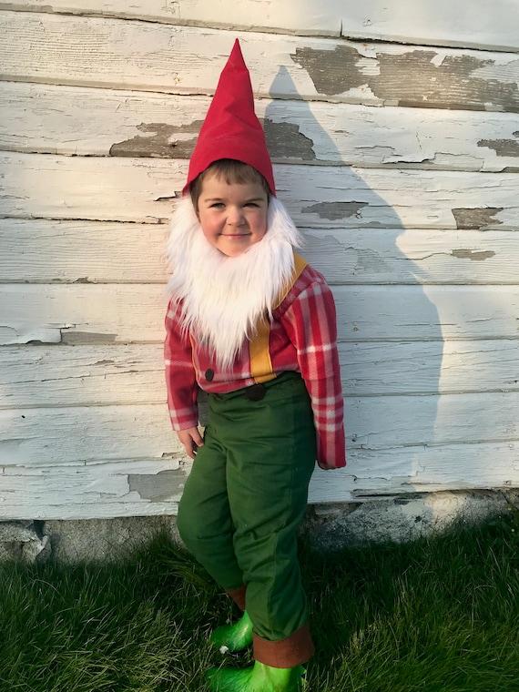 Garden Gnome Halloween Costume for boys, girls, toddler, children Christmas  Gnome, Limited Edition, seven dwarfs