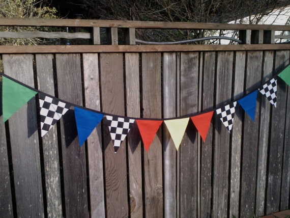 CARS Themed Personalised Bunting for Boy or Girl per letter