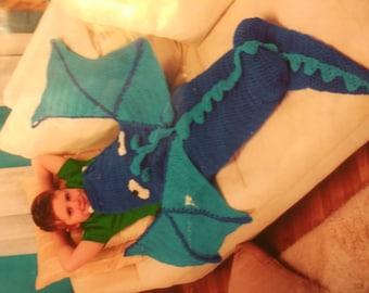 dragon cocoon in blue &turq