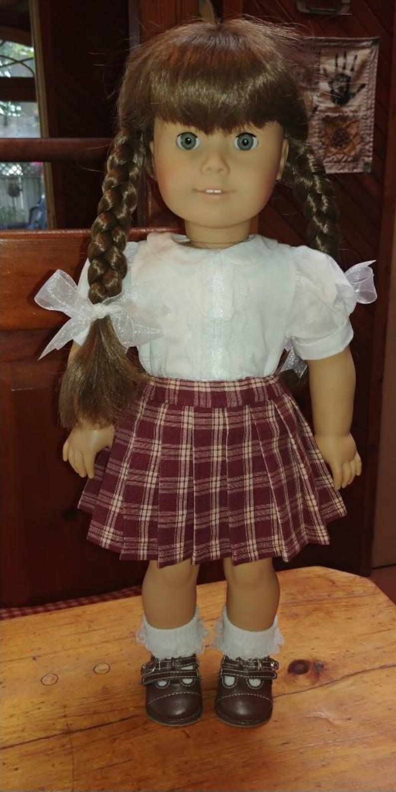 fe09de204 1940s Burgundy & Tan Plaid Pleated Skirt Molly or Emily fits | Etsy