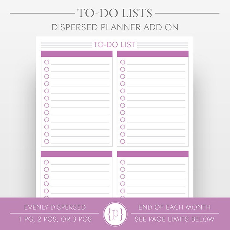 To-Do List Pages Dispersed Throughout Months image 0