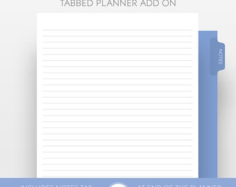 Extra Planner Notes Pages