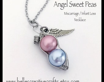 559f9fbd43b2 Miscarriage   Infant Loss Remembrance TWIN Pea Pod NECKLACE....Remember and  Honor your Angel or Angels.