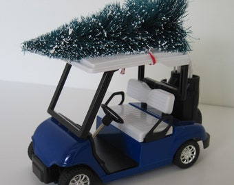 golf cart blue large christmas ornament christmas village christmas decoration