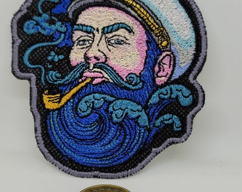 ALW Lot Of 2 Cartoon Black Beard Embroidered Iron on Applique Patch 6 x 2 cm