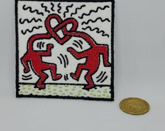 VTG keith haring k.haring cool desigb estate long sleeve sewing patch logo pop culture legendary arts large #979 SALE!