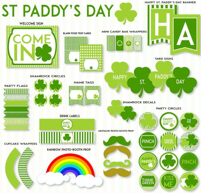 photo relating to St Patricks Day Printable called St. Patricks Working day PRINTABLE Get together by way of Take pleasure in The Working day