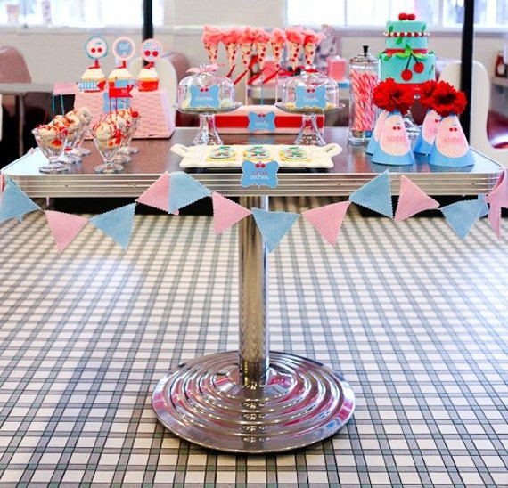 Retro Cherry Party PRINTABLE DIY Full Birthday By Love The