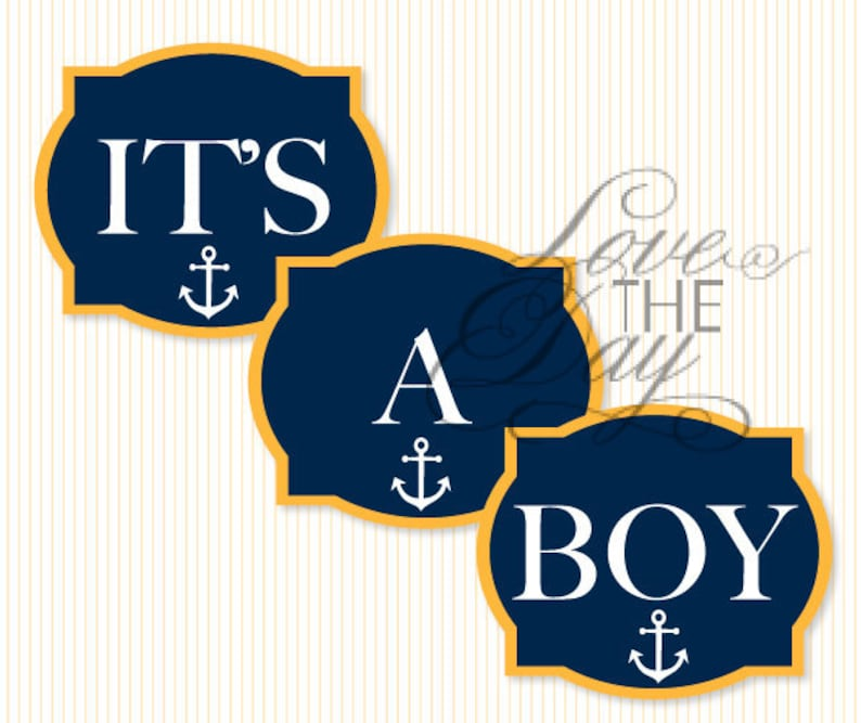 photograph regarding Printable Yard Signs identified as Nautical Youngster Shower PRINTABLE Get together Garden Indications (Prompt Obtain) through Delight in The Working day