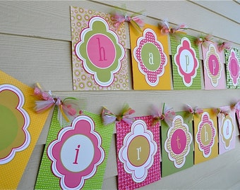 Ice Cream Party PRINTABLE Happy Birthday Banner (INSTANT DOWNLOAD) from Love The Day