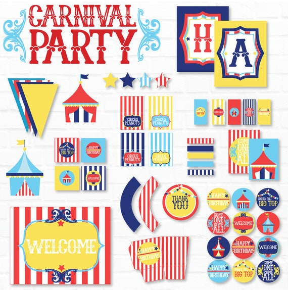 picture regarding Carnival Printable named Carnival PRINTABLES Bash (Instantaneous Obtain) via Enjoy The Working day