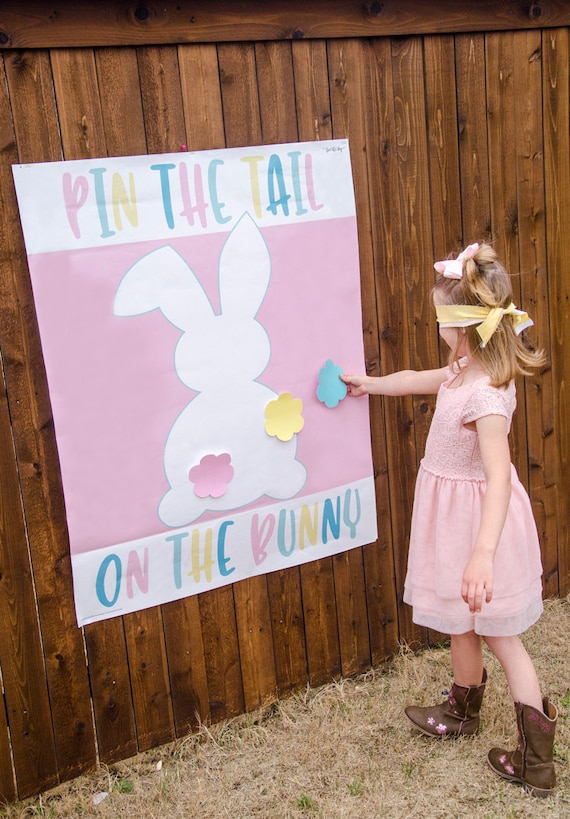 photo about Pin the Tail on the Bunny Printable referred to as Pin The Tail Upon The Bunny Easter Printable Sport (Immediate