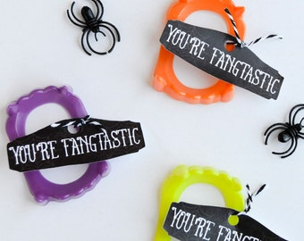 Fangtastic Halloween PRINTABLE Party Favor (INSTANT DOWNLOAD) by Love The Day