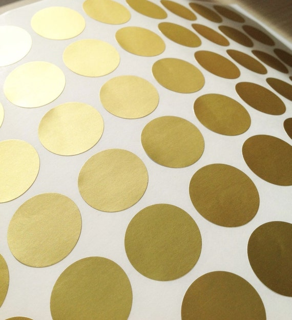 Matt gold foil stickers round gold foil labels 2 5cm