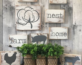 Farmhouse Kitchen Decor | Country Home And Living | Farmhouse Kitchen Sign
