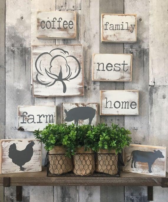 Farmhouse Kitchen Decor   Country Home and Living   Farmhouse kitchen sign