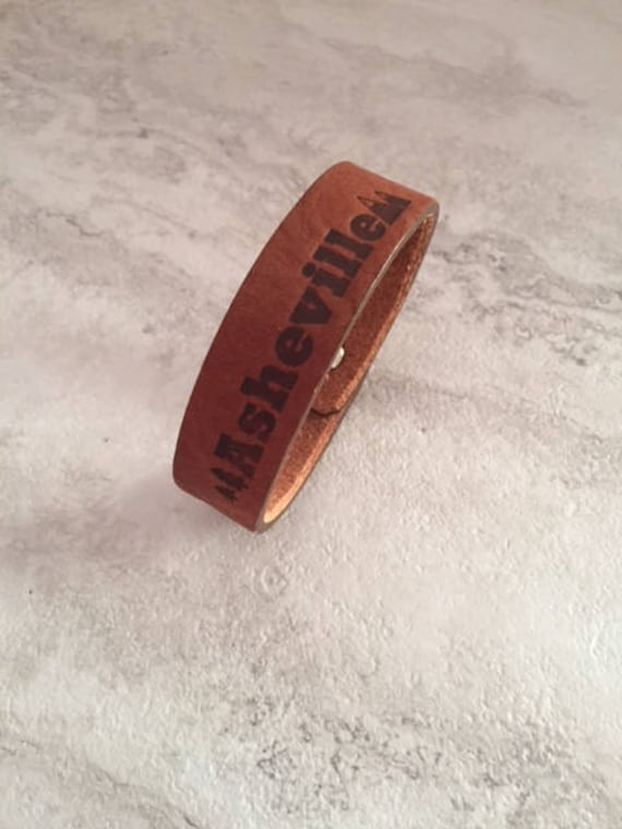 Handmade Asheville Leather Cuff Bracelet
