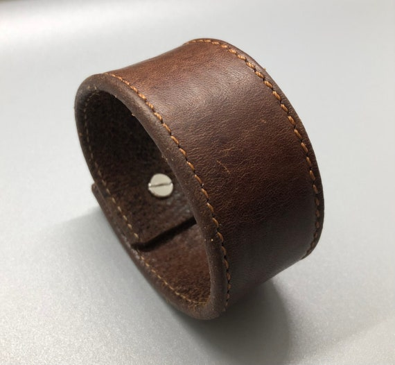 Brown Leather Bracelet, Brown Leather Cuff