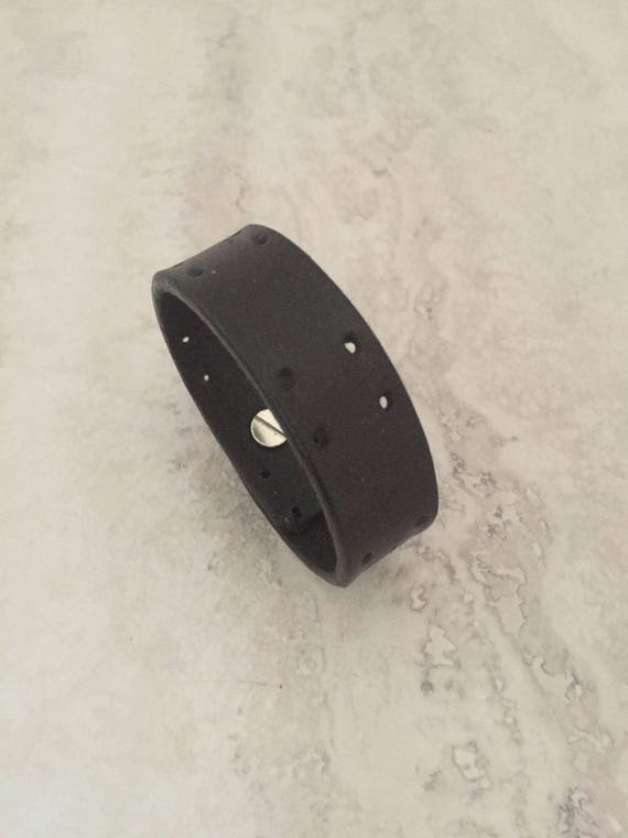 Black Handmade Thin Leather Bracelet (Size 7.25 inches)