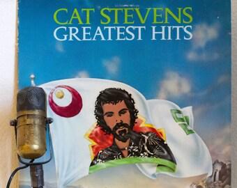 "Cat Stevens Vinyl Record Album 1970s Folk Pop Rock Peace Love Soft Rock Spirituality LP ""Greatest Hits"" (RARE 1970s Record Club with POSTER)"