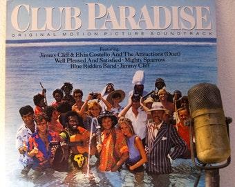 "Robin Williams / Elvis Costello /Jimmy Cliff Comedy LP Soundtrack Stage & Screen 1980s Reggae Music ""Club Paradise"" (SCARCE Promo copy 1986)"