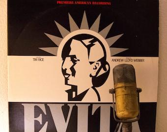 "Evita Premiere American Recording - ""Evita"" (Original 1979 MCA Records / New York Cast - no booklet) - Vintage Gatefold 2LP Vinyl"
