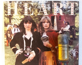 "Heart ""Little Queen"" Vinyl Record Album Sale 1970's Seattle Classic Rock And Roll Electric Guitar(1977 Portrait w/""Barracuda"",""Kick It Out"")"