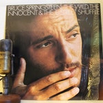 """ON SALE Bruce Springsteen Vinyl Record 1970s Classic Rock """"The Wild, The Innocent & The E Street Shuffle"""" (1977 Columbia re-issue w/""""Rosalit"""
