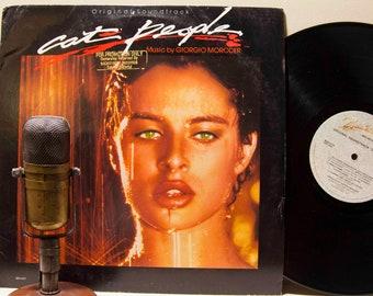"ON SALE Nastassia Kinski Record 1980s Movie Soundtrack LP 'Giorgio Moroder' ""Cat People"" (Rare Promo, Original 1982 Backstreet)"