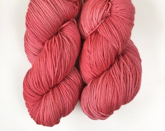 Give Me Roses. 200g. 388 meters (approx). 8ply/DK (double knit) weight yarn.  Kettle Dyed. New Zealand Polwarth Yarn.