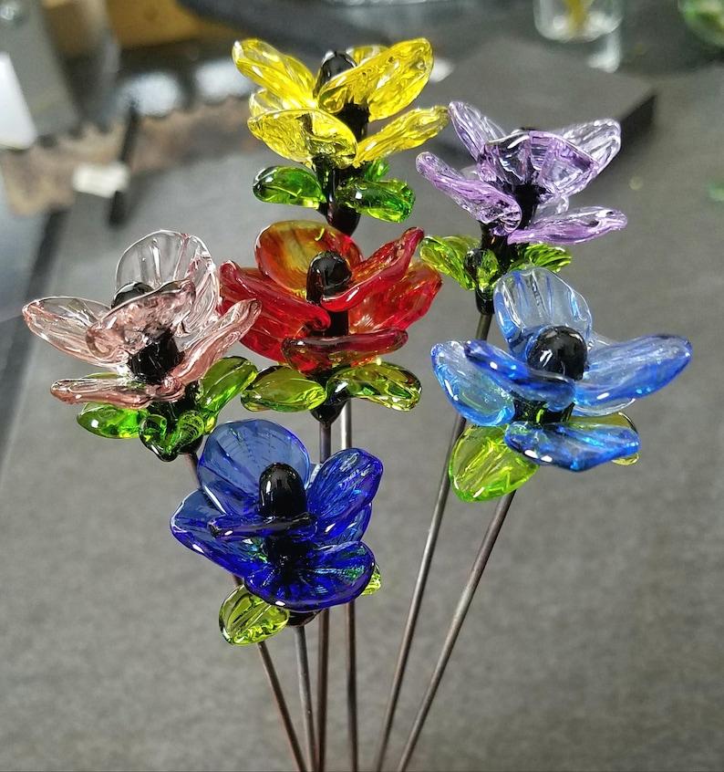 Fairy Garden Art   Sun Catcher   1 Plant Stake  Lampwork image 0