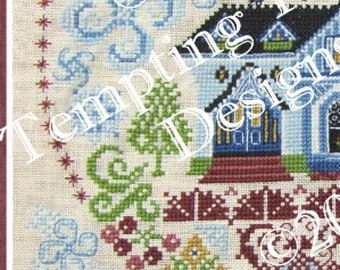 My Own Sweet Home Mystery SAL/stitch along/valentine/home sweet home/victorian house,quaker flower garden,welcome home, cross stitch