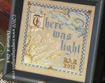 First Light - reminder of Easter's Gift -pdf file Creation  pattern / design / needlework / embroidery pdf / cross stitch  / counted thread