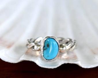 Kingman Turquoise Ring - Size: 6