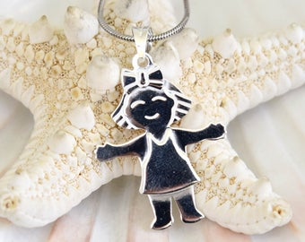 Little Girl Silver Pendant