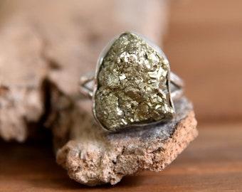 Iron Pyrite Ring - Size: 7