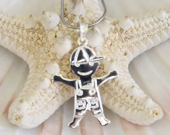 Little Boy Silver Pendant