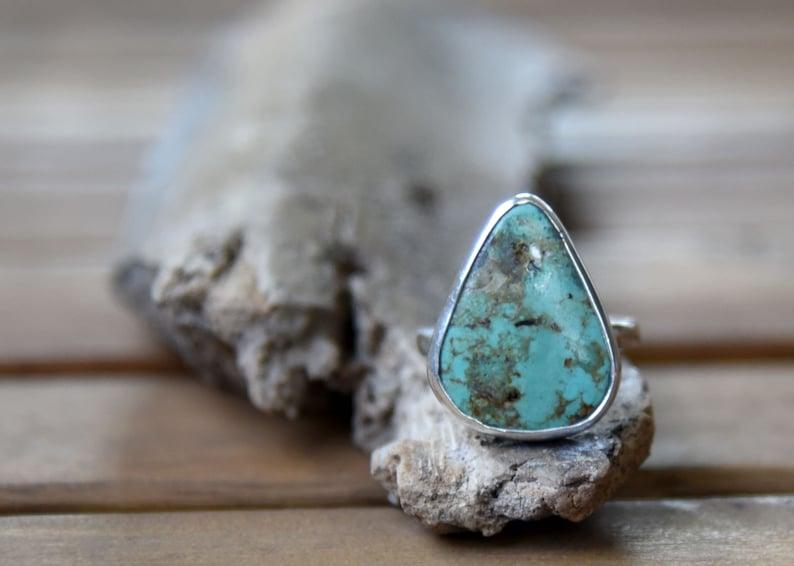 Size 7 Vintage Royston Turquoise Ring