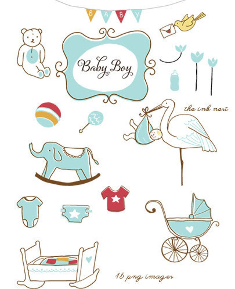 for commercial and personal use Baby Boy CLIP ART