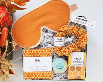 Bee Gift Box • Self care Gift, Eco friendly Gifts, Spa Gift Box for Women, Gift basket for mom, Gift, Birthday Gift Box, Care Package set
