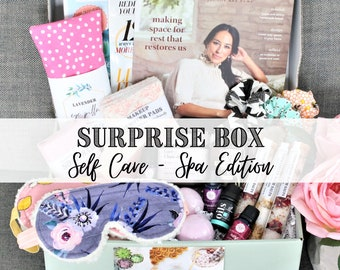 Surprise Mystery Box For Women • Care package friend, Self care box, Gift for her, Self care gift, Birthday Gift basket